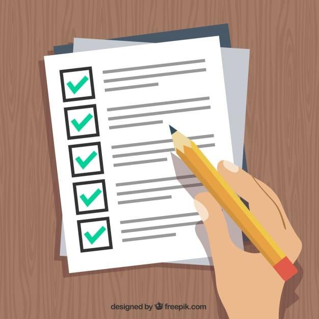 AV checklist 2018