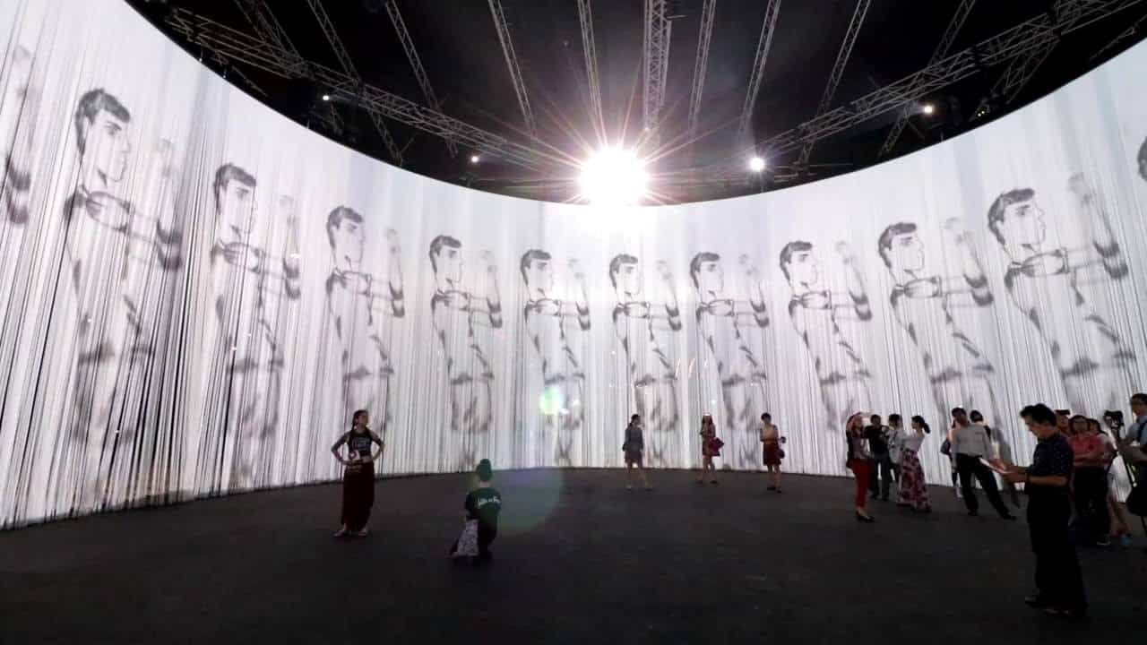 360 Display screen Toronto, projection, projection mapping, pandoras box, media server