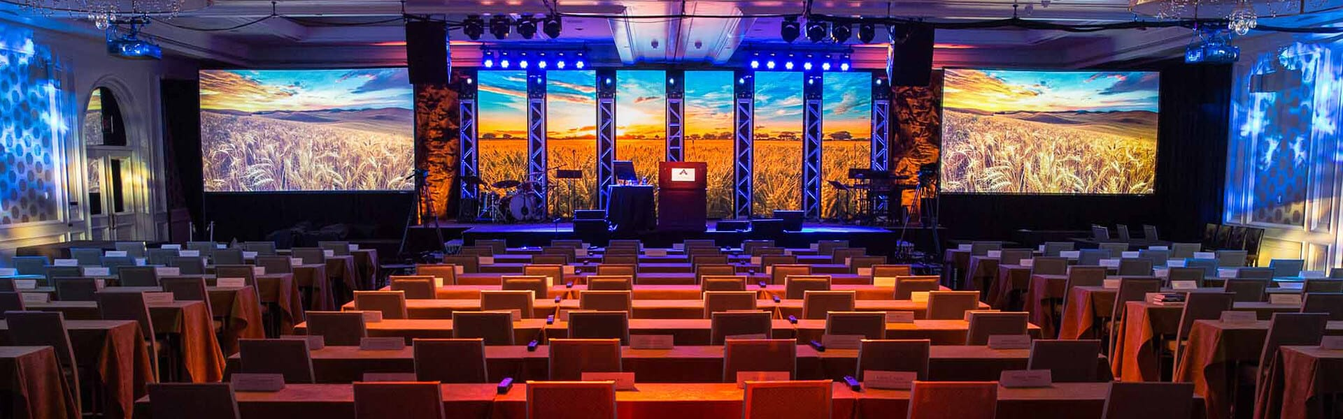 LED Video Wall, Audio Visual, Speakers, Line Array, Truss, Moving Heads, Martin Mac Aura, Staging, Lighting, JBL Vertec, Conference, Summit, AV, Toronto, Product Launch, AV Production, Audio Visual Production