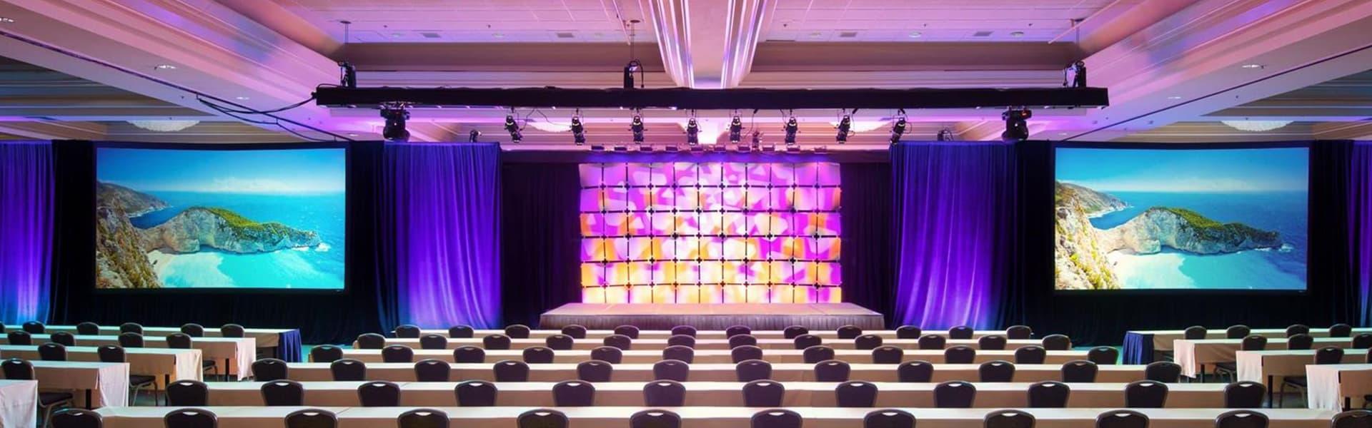 Audio Visual, Speakers, Line Array, Truss, Moving Heads, Martin Mac Aura, Staging, Lighting, JBL Vertec, Conference, Summit, AV, Toronto, Product Launch, AV Production, Audio Visual Production